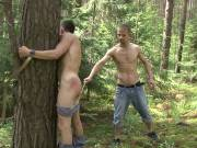 Savage outdoors bdsm beating