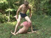Vicious bdsm outdoor beatings
