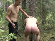 Nasty fetish paddling for cute twink