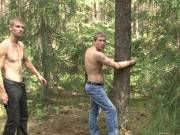 Sexy gay tied to a tree