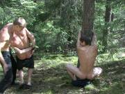 Smutty and rough outdoor fetish