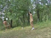 Exciting nude soccer play