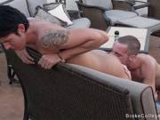Straight boy first time feel how another guy lick hif asshole and suck cock