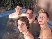 Four young boys take a hot bath and take gay sex with cock sucking tube video